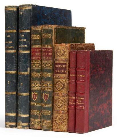 [FEMMES]. Ensemble de 6 ouvrages de la seconde moitié du XIXe siècle.. La Malice...