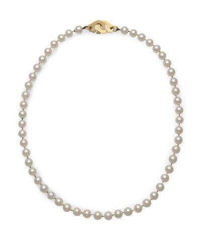Collier de perles de culture, fermoir menottes...