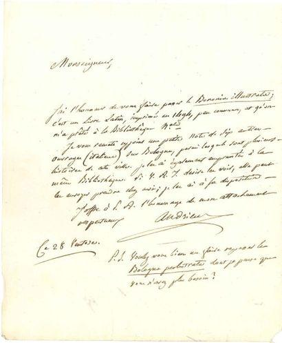 François-Guillaume ANDRIEUX (1759-1833) Auteur dramatique. [AF] 8 L.A.S., 1803-1818...