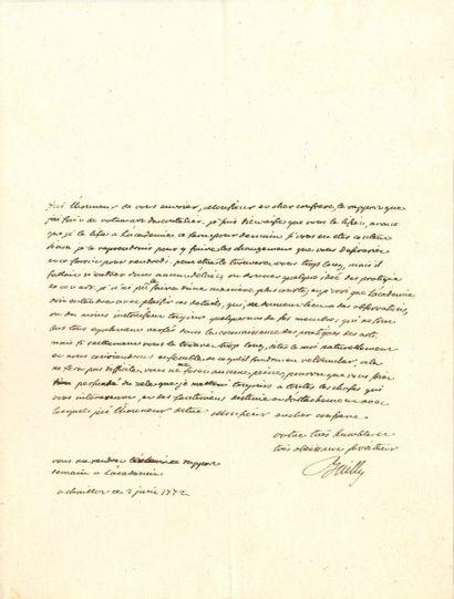 Jean Sylvain BAILLY (1736-1793) Savant et astronome, premier Maire de Paris, guillotiné....