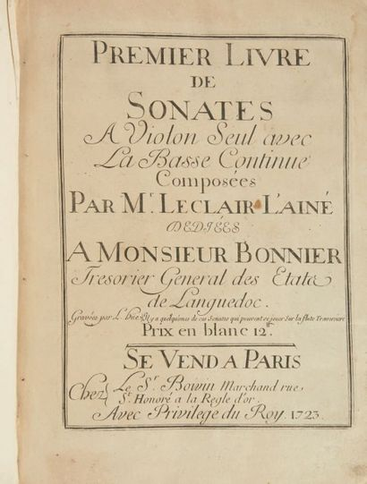 Jean-Marie LECLAIR (1697-1764)