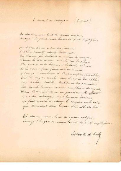 Charles LECONTE DE LISLE (1818-1894)