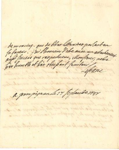 Jean-Jacques LEFRANC, marquis de POMPIGNAN. [AF]