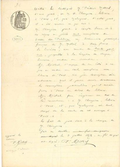 FREDERIC MISTRAL (1830-1914)