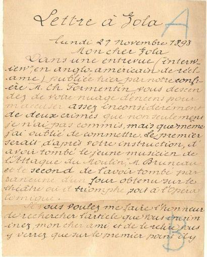 Émile bergerat (1845-1923) Écrivain et journaliste, gendre de Théophile Gautier....