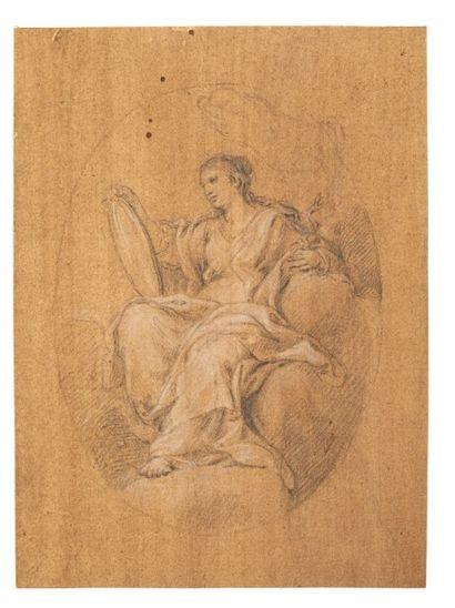 CARLO MARATTA (CAMERANO 1625 - ROME 1713) Allégorie de la Prudence Pierre noire et...