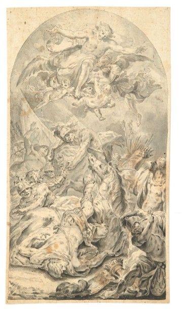 FEDELE FISCHETTI (NAPLES 1732 - 1792) La Conversion de saint Paul Plume, encre grise...