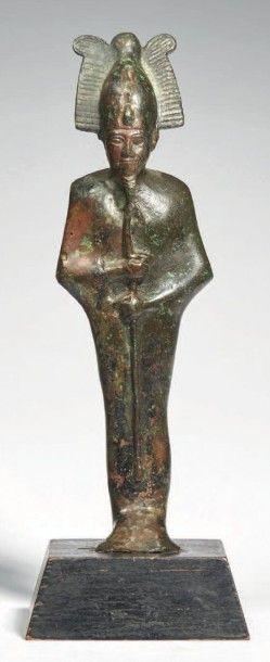 STATUETTE D'OSIRIS-PTAH. Statuette votive...