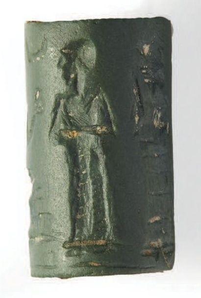 SCEAU-CYLINDRE. Sceau-cylindre gravé d'une...