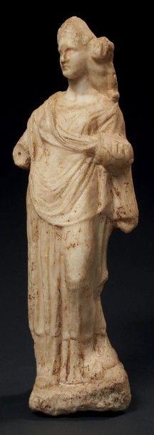 APHRODITE À L'ÉROS. Statuette représentant...