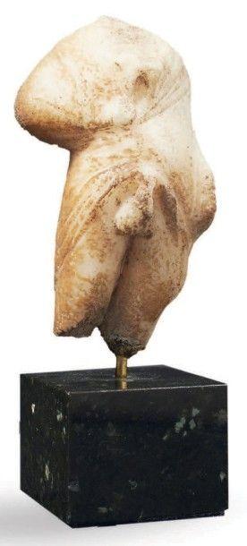 STATUETTE DE PRIAPE. Statuette acéphale représentant...