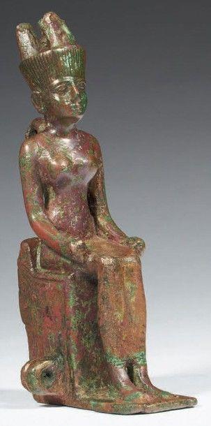 STATUETTE DE NEITH. Statuette votive représentant...