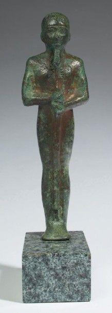 STATUETTE DE PTAH. Statuette votive représentant...