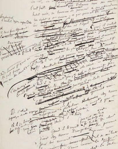 FLAUBERT, Gustave [L'Éducation sentimentale. Résumés et plans. 1869.] Manuscrits...