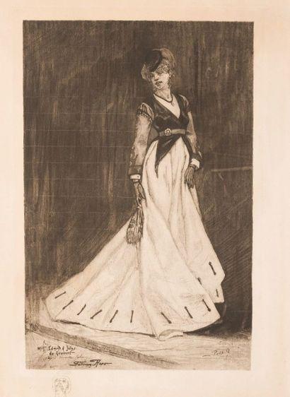 ALBERT BERTRAND (1854-1912) D'après Félicien ROPS (1833-1898) Mariette salomon ou...