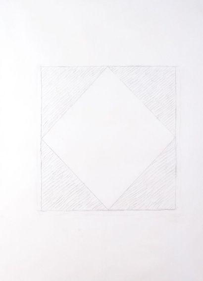 Dan Van Severen (1927-2009) Composition, 2003 Crayon sur papier. H_105 cm L_76 c...