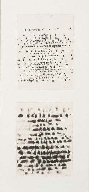 WYBRAND GANZEVOORT (1930) Ensemble de 2 dessins, 1961 Encre de chine sur papier....