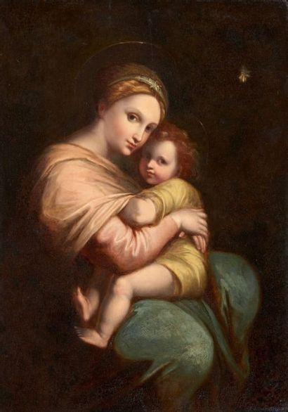 École Italienne du XIXe siècle, dans le goût de Raphael