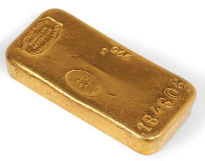 LINGOT D'OR N° 184 608 Lingot d'or français....