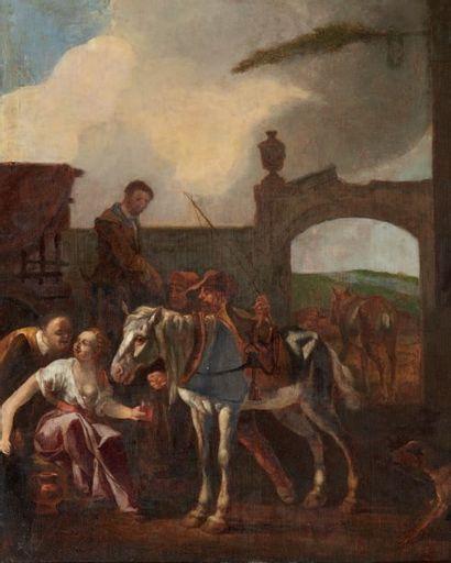 ECOLE HOLLANDAISE DU XVIIIE SIÈCLE,<br/>SUIVEUR DE JOHANNES LINGELBACH