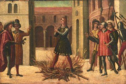 ATTRIBUÉ À LAZZARO BASTIANI (PADOUE, DOC. VERS 1449 - VENISE 1512) Martyre d'un saint...