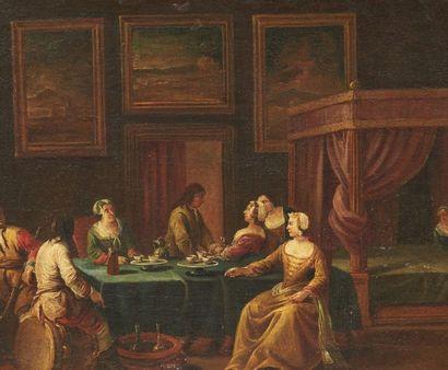FRANCESCO SIMONINI (PARME 1686 - VENISE 1753) Les adieux du soldat à la famille Toile....