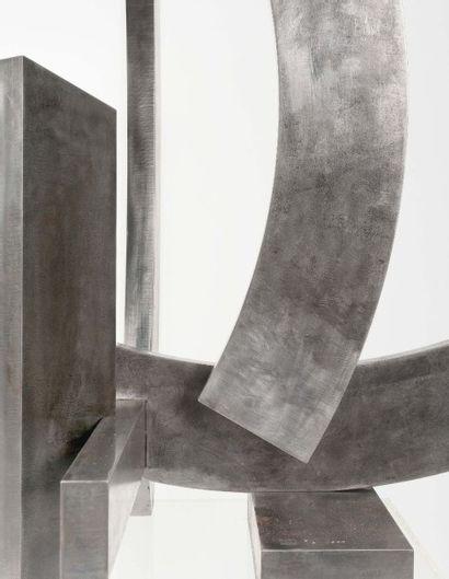 FRANCESCO MARINO DI TEANA (1920 - 2012) Structure Universités, 1963 Acier brut verni...