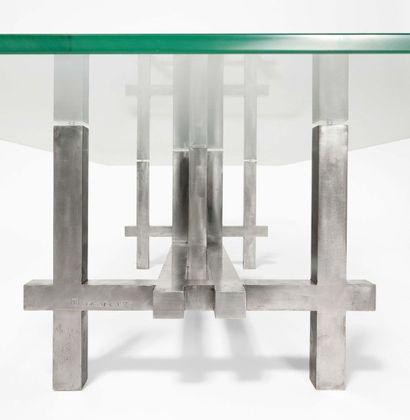 "FRANCESCO MARINO DI TEANA (1920 - 2012) Table basse ""Moyen Âge"", 1978 Signée du monogramme..."