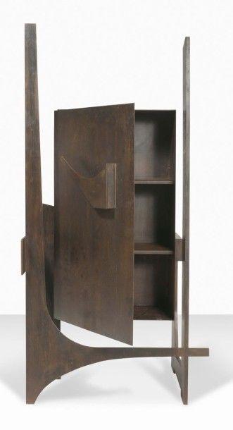 FRANCESCO MARINO DI TEANA (1920 - 2012) Buffet Architectural, 1956 Acier à patine...