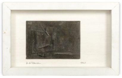"""FRANCESCO MARINO DI TEANA (1920 - 2012) Bas relief """"Petit relief 4"""", 1955 Bronze..."""