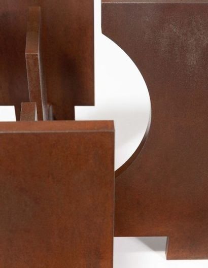 "FRANCESCO MARINO DI TEANA (1920 - 2012) Table basse ""Forme Espace"", 1969 Acier à..."