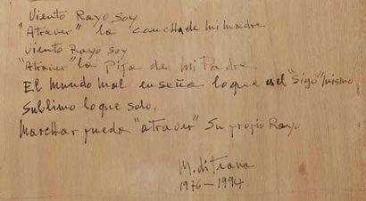 FRANCESCO MARINO DI TEANA (1920 - 2012) Viento Rayo Soy, 1976-1994 Tempera sur papier...