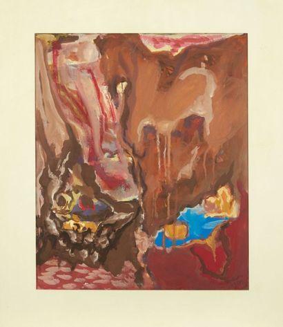 Philippe HOSIASSON (1898-1978) Sans titre, 1957 Peinture sur papier. Signée et datée...