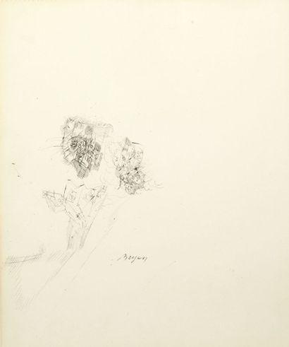 Camille BRYEN (1907-1977) Sans titre Technique mixte sur papier. Signée et datée...
