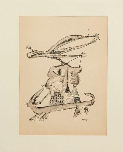 JACQUES HEROLD (1910-2010) Sans titre, 1941 Encre et lavis d'encre sur papier Signé...