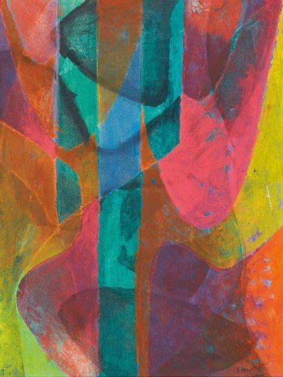 Stanley William HAYTER (1901-1988) Composition, 1977 Huile sur toile. Signée et datée...