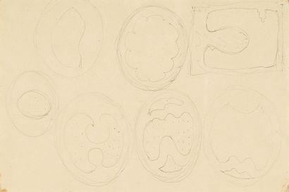 Lucio FONTANA (1899-1968) Studi per teatrini Stylo à bille sur papier. H_31 cm L_21...