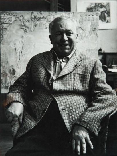 Raoul DUFY (1877-1953) Orchestre de chambre ou le quintette bleu, vers 1946 Huile...