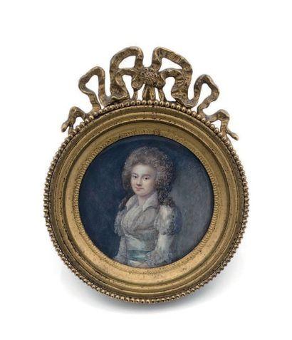 MLLE CHARLETTE, ÉPOUSE PERRIN (VERS 1757- PARIS VERS 1815) Portrait de Madame Martineau...