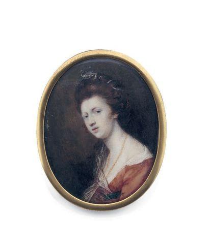 SIR JOSHUA REYNOLDS (D'APRÈS). ECOLE ANGLAISE VERS 1800
