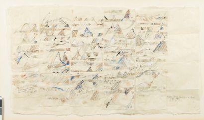 CLAUDE LAGOUTTE (1935-1990) Voyage en Suisse, Composition abstraite, 1996 Gouache...