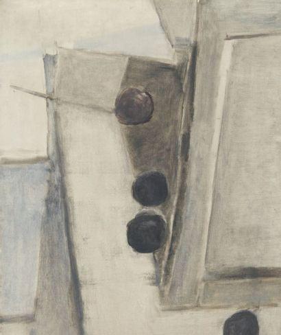 GENEVIEVE ASSE (née en 1923) Composition Huile sur toile. Signée en bas à droite....
