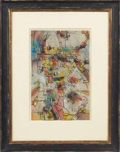 ALAIN FREDERICK SUNDBERG (NÉ EN 1948) Composition abstraite, 1979 Aquarelle et gouache...