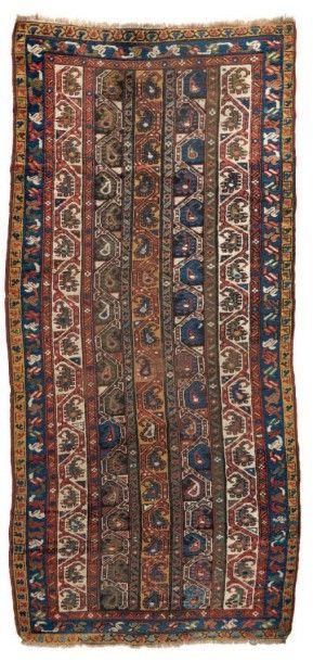 TAPIS kurde, caucasien. Fin du XIXe siècle...