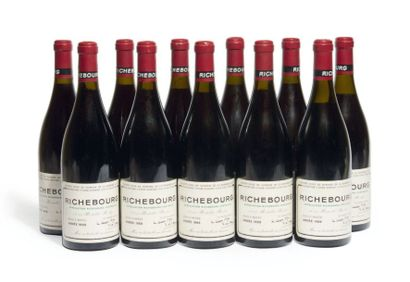 11 BOUTEILLES RICHEBOURG Grand cru. Domaine...
