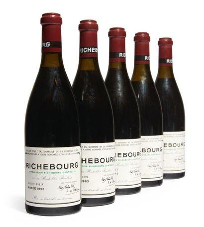 5 BOUTEILLES RICHEBOURG Grand cru. Domaine...