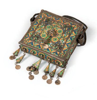 PORTE-CORAN en argent émaillé, Maroc, Anti-...