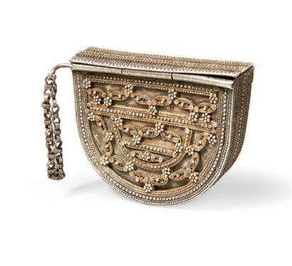 BOITE TALISMANIQUE en argent, Empire ottoman,...