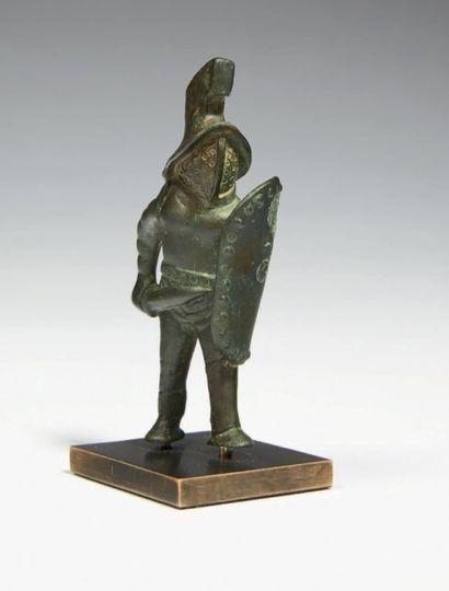 GLADIATEUR MIRMILLON. Statuette représentant...