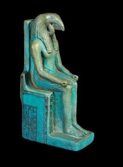 STATUETTE DE THOT-IBIS. Grande figurine représentant...